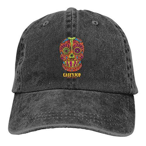 ASDGEGASFAS Baseball Cap Happy Sugar Skull Cotton Adjustable Peaked Dyed Cap Washed Cowboy Hat