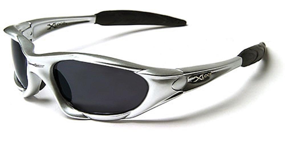 X-Loop Sonnenbrillen - Sport - Radfahren - Skifahren - Laufen - Driving - Motorradfahrer - Kajak - Klettern - Angeln / Mod. 1002 Grau / One Size Adult / 100% UV400 Schutz