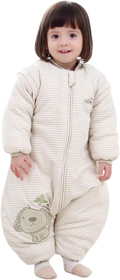 Saco de dormir con cremallera para bebé, para invierno o bebé, saco de dormir, saco de dormir Green-dog thick Talla:M: Amazon.es: Bebé