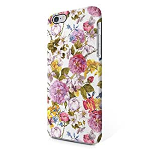 Vintage Floral Flowers Pattern Pink Indie Tumblr Boho Hard Plastic iPhone 6 / iPhone 6S Phone Case Cover