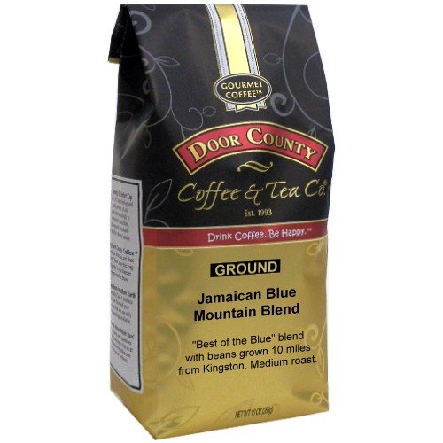 Best Gourmet Coffee - Door County Coffee, 10oz Bags (Jamcaican Blue Mountain Blend, Ground)