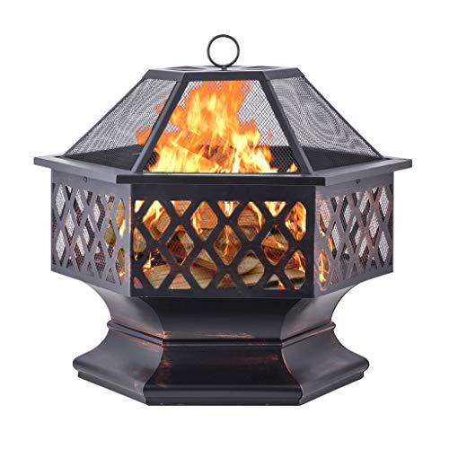 Top 10 Steel Drums For Fire Pits of 2019 | No Place Called ... on Zeny 24 Inch Outdoor Hex Shaped Patio Fire Pit Home Garden Backyard Firepit Bowl Fireplace id=50281