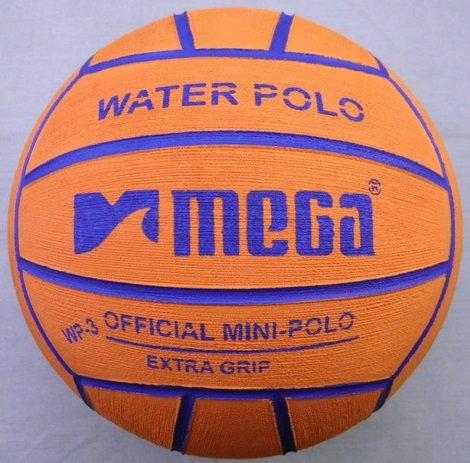 Pallone da pallanuoto Mega Design arancione Taglia 3. Mini-polo MegaSport