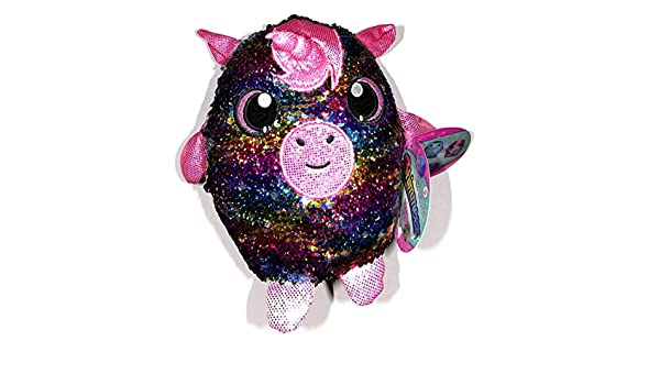 "New SHIMMEEZ GIGI Rainbow unicorn 8/""  Sequin Plush Toy"