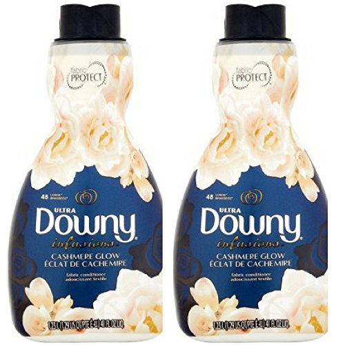 Ultra Downy Infusions Cashmere Glow Liquid Fabric Conditioner, 41 fl oz (2)