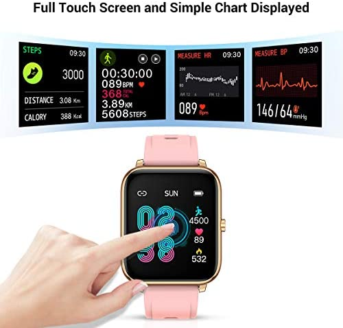 CanMixs Smart Watch for Android Phones iOS Waterproof Smart Watches for Women Men Sports Digital Watch Fitness Tracker Heart Rate Blood Oxygen Sleep Monitor Touch Screen Compatible Samsung iPhone 51 FRvTgDNL