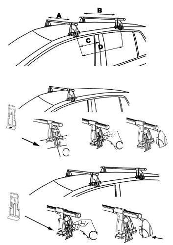 Aurilis barres de toit Easy One Opel Insignia 5/portes 2008 2017