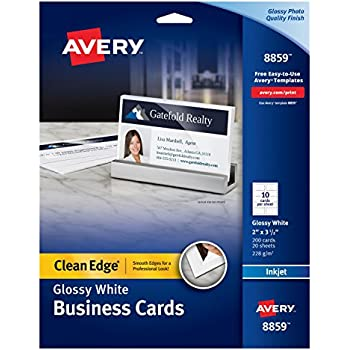 Amazon Avery Clean Edge Business Cards For Inkjet Printers