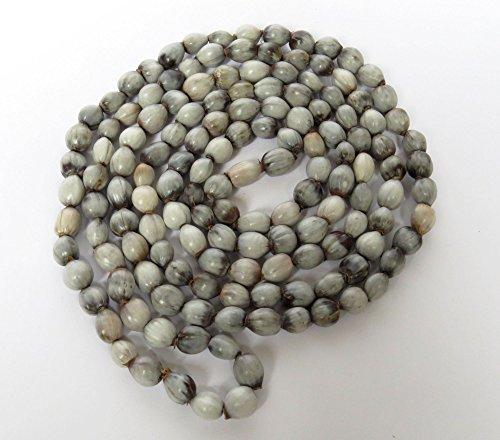 African Zulu grey seeds Imfibinga or ubuchwabasi - Extra long necklace - Gift for - Grey Seed