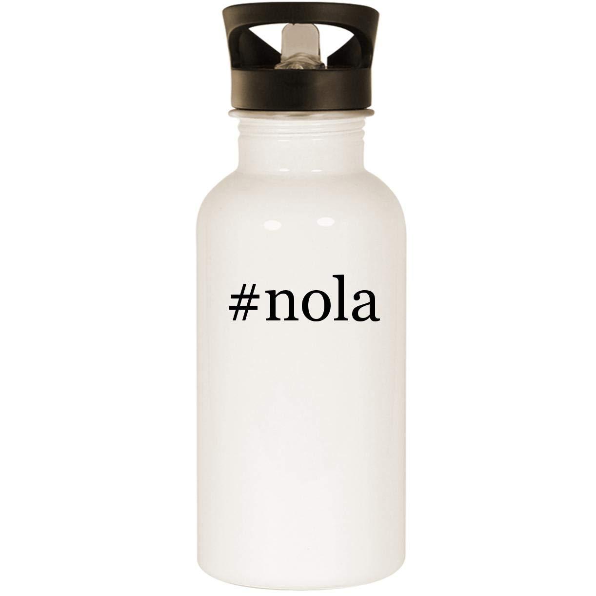#nola - Stainless Steel 20oz Road Ready Water Bottle, White