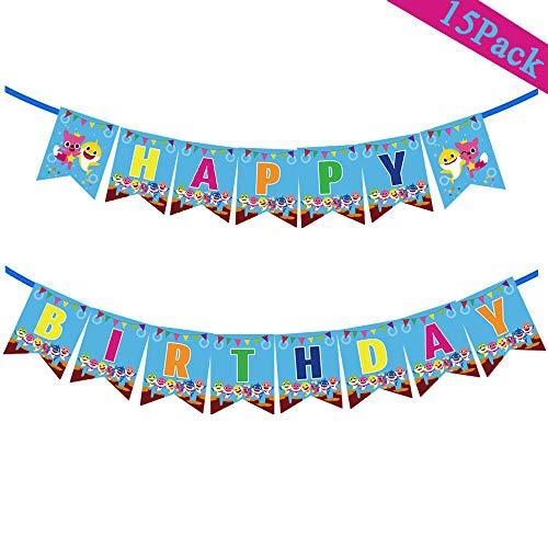 Baby Shark Birthday Party Banner Supplies Decorations - Kids Birthday Baby Shark Theme/Under the Sea/Baby Shower Party Decorations Banner