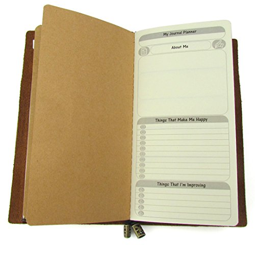 Free Diary Weekly + Yearly Planner Journal Refill Insert – To Do List + Daily / Yearly Calendar for Standard Regular Size Travelers Notebook 8.25