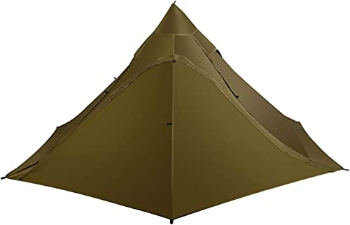 OneTigris TIPINOVA Teepee Camping Tent, 2.6lb, No Pole Included Coyote Brown