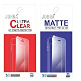 Johra Clear Screen Guard Protector with Matte Screen Scratch Guard Protector forLetv LeEco Le 2