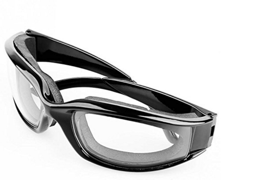 HaoYiShang Professional Durable Light Weight Onion Goggles for Home and Kitchen Use, Tear Free Onion Goggles Glasses (black) Kitchen Goggles B