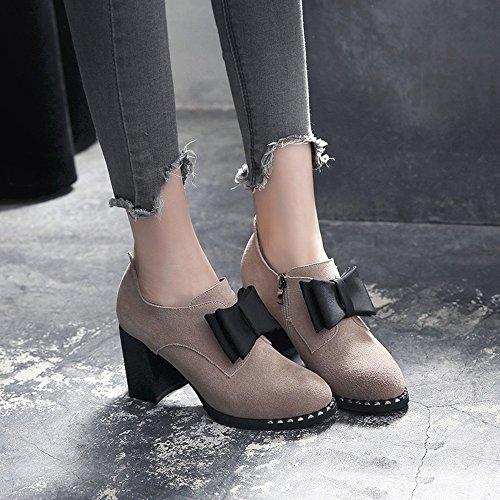 Carrière cn36 Un Chaussettes uk4 Femmes Fufu Chaussures Talon Eu36 Dans Une Rond L'hiver Taille Bureau En Pour 1001 Hiver couleur 1003 À Décontractée wfP16qF