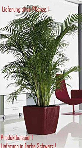 Blumenübertopf Quadro Premium, für Innen geeignet, Farbe Schwarz, 50x50x47cm