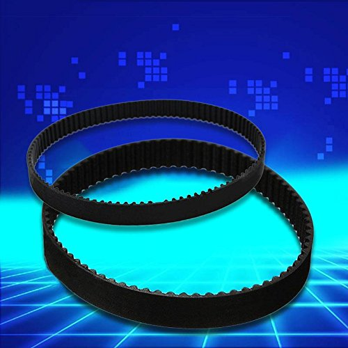 Tiptiper 3D Printer Closed Rubber Loop Cycle Black Width 6mm Length 158mm for 2GT-6