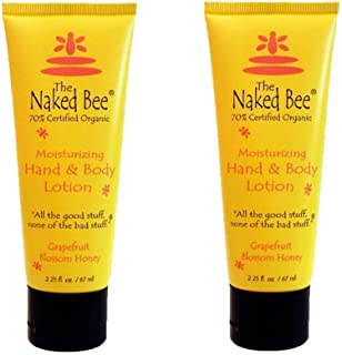 product image for The Naked Bee Moisturizing Hand & Body Lotion 2.25 oz (2 Pack) (Grapefruit Honey)