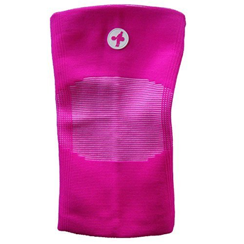 Knee Sleeves for Weightlifting, Crossfit, Chinese Style (Pink and White, Medium)
