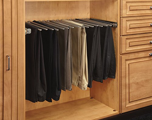 Rev-A-Shelf - PSC-3014CR - 30 in. Chrome Pull-Out Pants Rack with Full-Extension Slides
