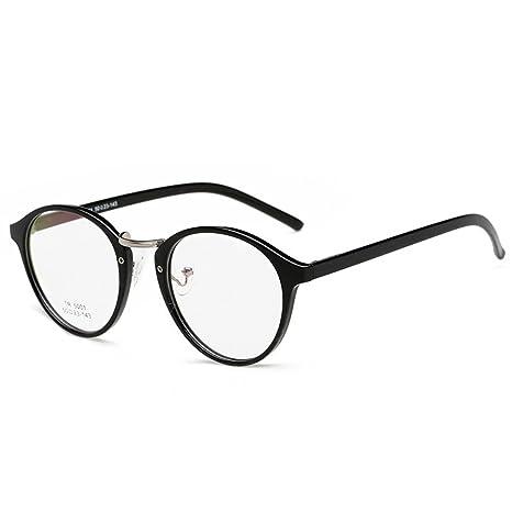 MagiDeal Unisex Moda Retrò Occhiali da Vista Occhiali Eyewear Cornice Nero wJHi8tfot