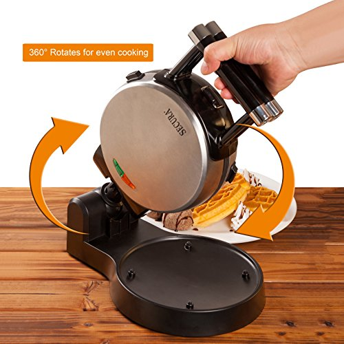 Secura Upgrade Automatic Rotating Belgian Waffle w/Removable Warranty