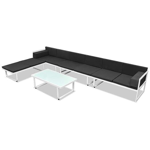 SSITG Jardín sofá cama de 17 piezas de sofá de muebles para ...