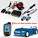 FidgetFidget Car Alarm Security System 2Way with LCD Super Long Distance Control Anti-Theft
