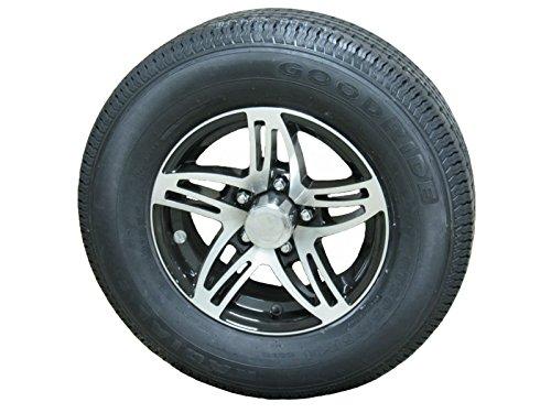 Goodride ST205/75R14 LRC Radial Trailer Tire & Aluminum Wheel Series 09 Black 5-4.5 w/Accessories TTW