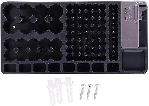 Organizador de batería AA, AAA, C, D y 9V Caja de soporte de batería con indicador de capacidad, tiene capacidad para 98 baterías: Amazon.es: Bricolaje y herramientas