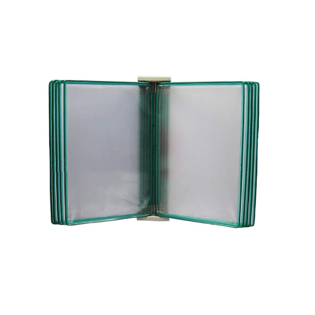 Flip File Holder, Wall-Mounted Magnetic Display (PVC+Metal) 33238CM (Color : D)