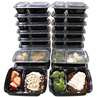 20-Pk. Misc Home 32 Oz. 2 Compartment Meal Prep Containers