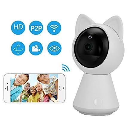 Hangang HD 1080 P, videocamera WiFi IP a forma di gattino con supporto P2P, con visione notturna, rilevamento di movimento bidirezionale, controllo dell' audio dal telefono controllo dell' audio dal telefono Changsha Hangang Technology Ltd