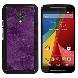 GIFT CHOICE / Teléfono Estuche protector Duro Cáscara Funda Cubierta Caso / Hard Case for Motorola G 2ND GEN II // Purple Texture Macro //