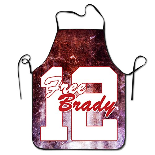 Unisex Free Brady TB12 Polyester Chef Aprons Cooking Aprons With Adjustable Strap For Kitchen
