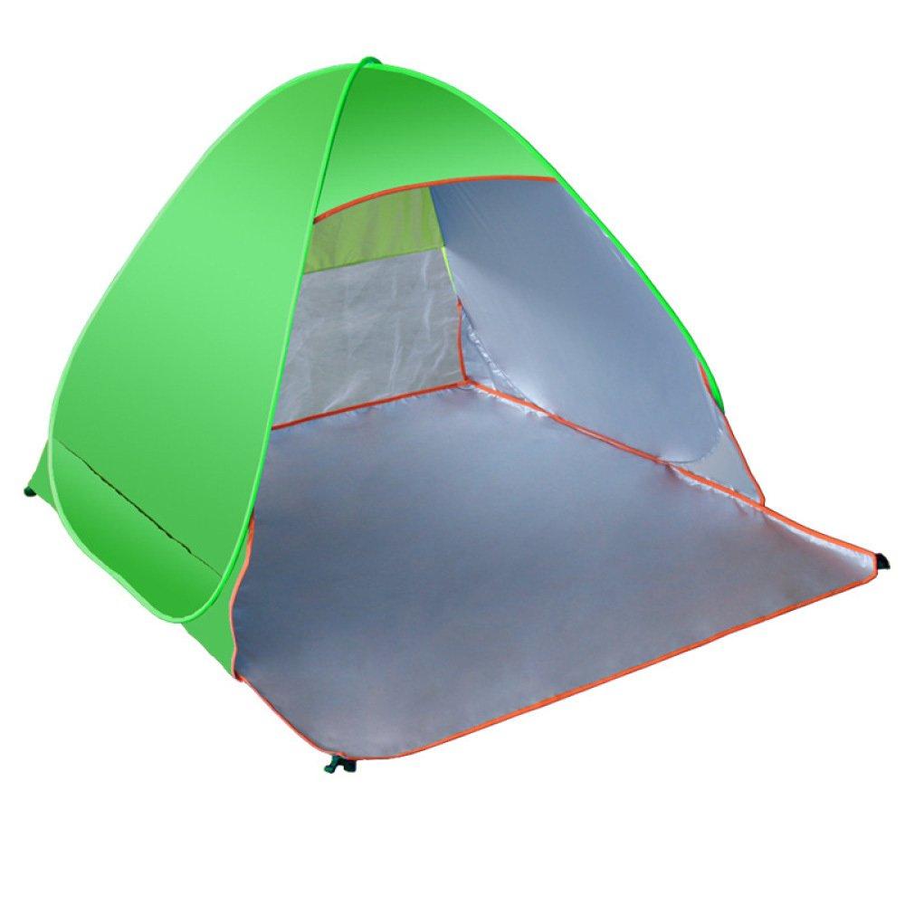 Outdoor tent Zelt Vollautomatische Eingebaute Strand Schatten Zelte öffnen Im Freien UV-Schutz,Grün