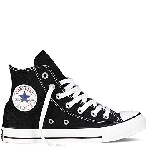 Converse M9160: Chuck Taylor All Star High Top Unisex Black White Sneakers (9.5 US Men 11.5 US Women 9.5 UK 43 EU, Black White) -  LYSB01MG1C78Z-MNFSHSHOE