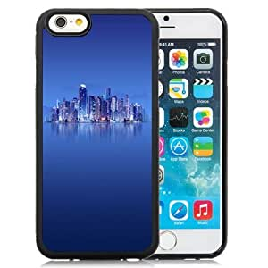 NEW Unique Custom Designed iPhone 6 4.7 Inch TPU Phone Case With Skyscrapers Calm Sea Xiaomi Contest Winner_Black Phone Case