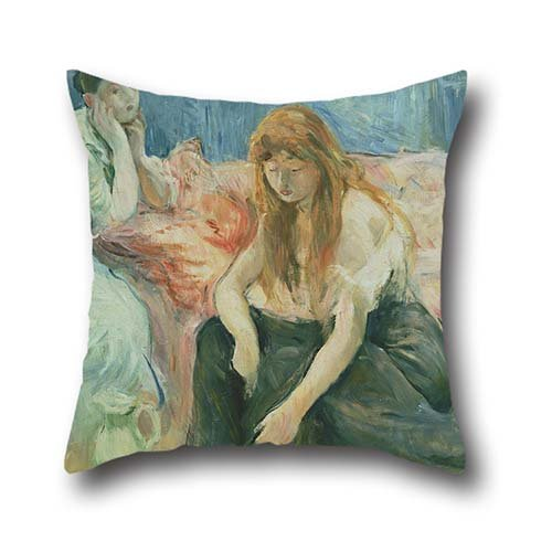 Oil Painting Berthe Morisot - Two Girls Throw Pillow Case 20 X 20 Inch / 50 By 50 Cm Best Choice For Drawing Room,home,living Room,saloon,play Room With Twin Sides - Memphis Lounger