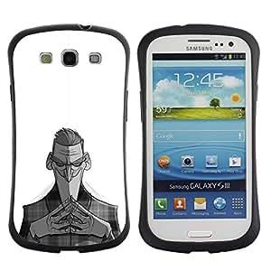 Paccase / Suave TPU GEL Caso Carcasa de Protección Funda para - Nefarious Black White Man Kids - Samsung Galaxy S3 I9300
