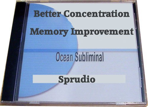 Sprudio Better Concentration/improve Your Concentration Subliminal CD Ocean  Wave