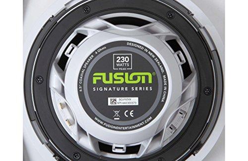 - Garmin 010-01427-10 Fusion Entertainment Signature 80W Coaxial Classic Marine Speaker, 7.7