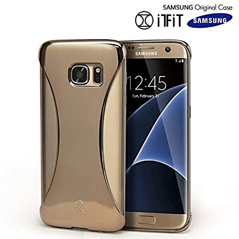 Galaxy S7 Edge Case, Original Samsung [SexyBack] Slim [Form Fitting] Back Cover [Precision Fit] [Extra Wide Earphone Jack] Case for Samsung Galaxy S7 Edge - Gold