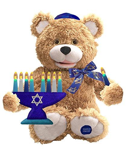 "Chantilly Lane Bear Sings ""Hanukkah Oh Hanukkah"" Plush, 10"""