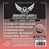 Medium Square Sleeves (80x80mm) - 50 Premium