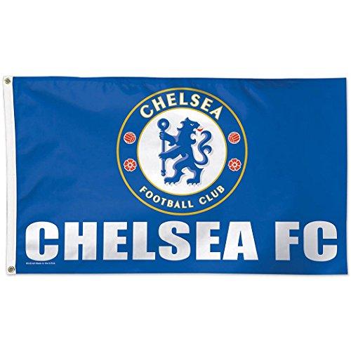 Chelsea Fc Flag (SOCCER Chelsea FC Deluxe Flag, 3' x 5')