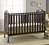 Big Oshi Emily 2-In-1 Convertible Crib Frame - Modern, Unisex Wood Design for Boys or Girls - Low to Ground Design - Converts to Crib or Day Bed Style Toddler Bed - Includes Needed Hardware, Espresso