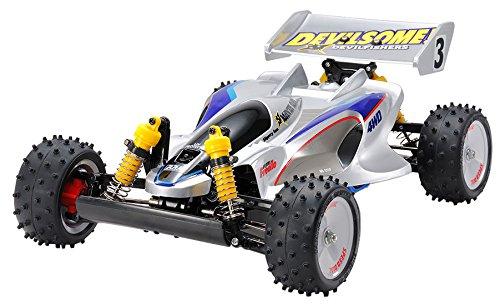TAMIYA 47367Car Model 1: 10Modell-Spielzeug–Modelle von Spielzeug (Car Model, 1: 10, schwarz, blau, grau, Silber, Polycarbonat)