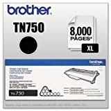 BROTHER TN750 TN750 (TN-750) High-Yield Toner, 8000 Page-Yield, Black